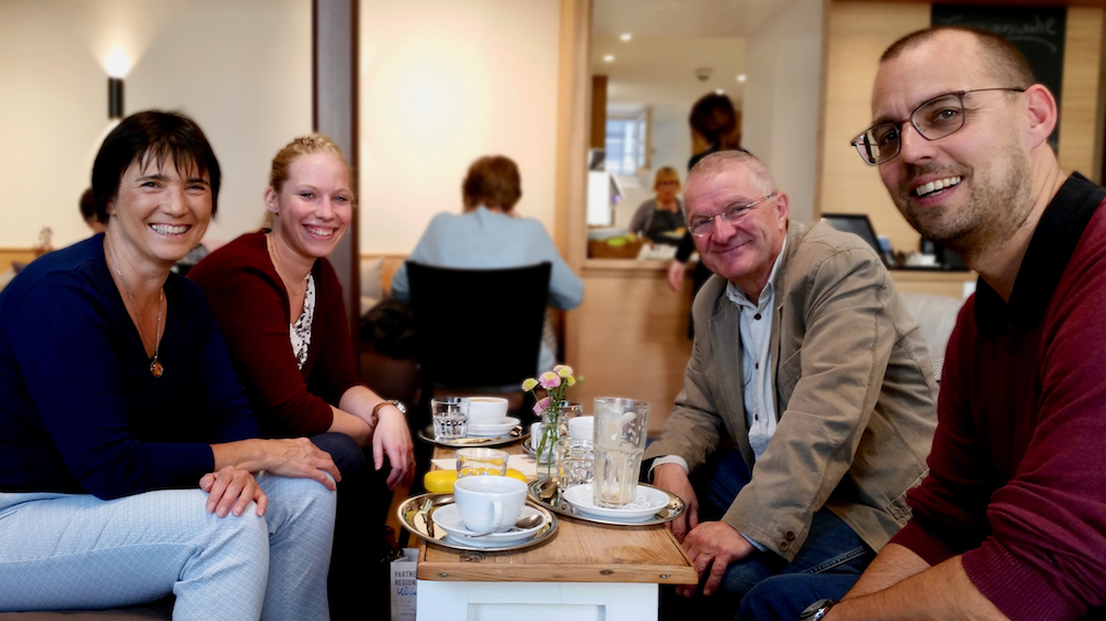 Bienenpatentreffen mit Andra Köchel, Dr. Peter Kaimer und Daniel Schiller im Krackhardt-Haus