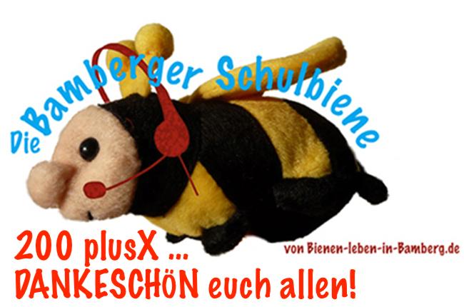 200x plusX Dankeschön von der Bamberger Schulbiene