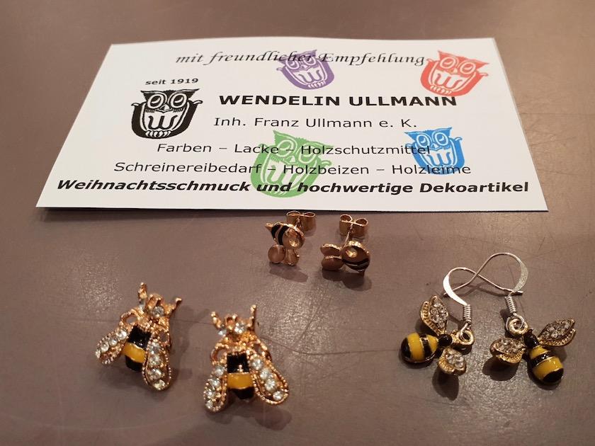 Bienenohrringe von Farben Ullmann, Elisabethenstraße, Bamberg