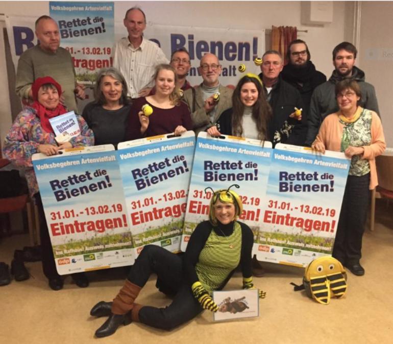 """2. Treffen des Aktionskreises zum Volksbegehren """"Naturschönheiten in Bayern erhalten – Rettet die Bienen"""", am 10.01.2019"""