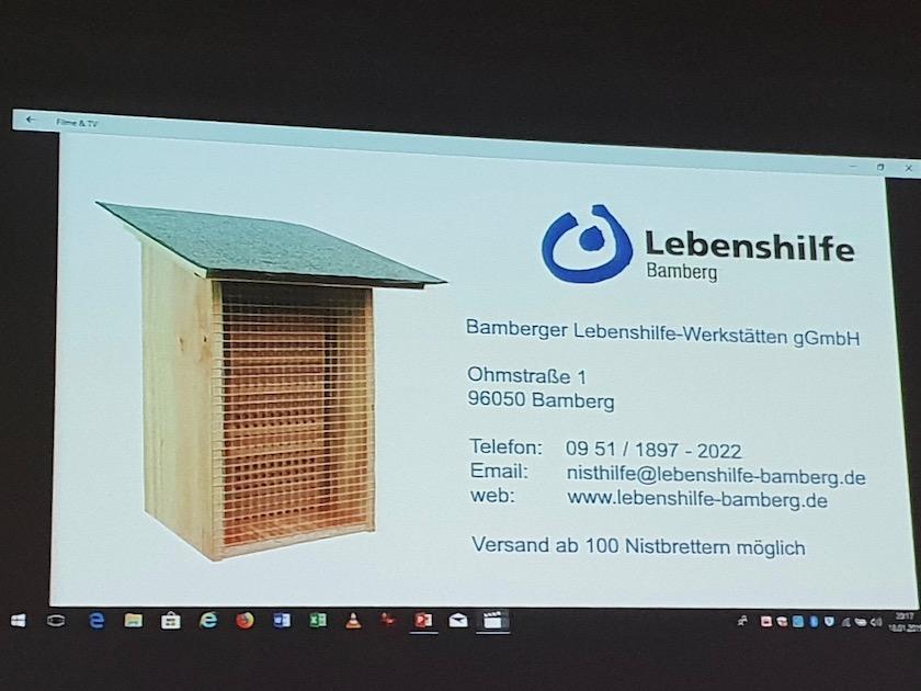 Wildbienen-Nisthilfe der Lebenshilfe-Werkstätten Bamberg