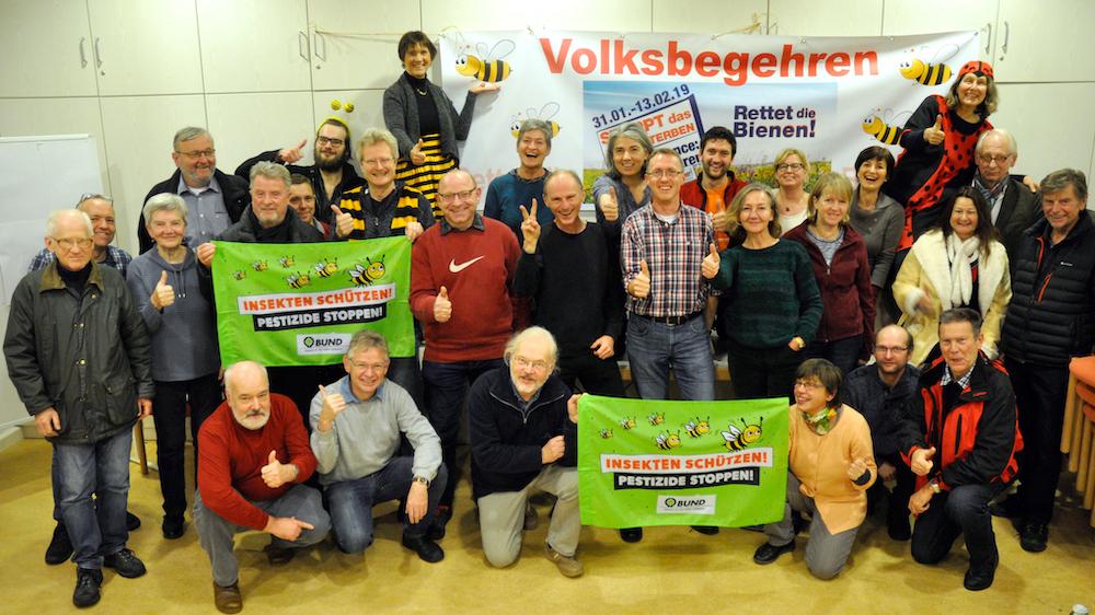 """Aktionskreis Volksbegehren """"Artenvielfalt und Gründungsversammlung Aktionskreis zum Volksbegehren """"Naturschönheiten in Bayern erhalten – Rettet die Bienen"""" am 19.12.2018"""