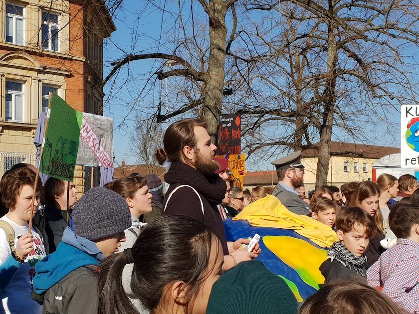 "Tim-Luca Rosenheimer (Orga-Team) Demonstration ""Nicht mit uns!"" Bamberg am 16.02.2019"