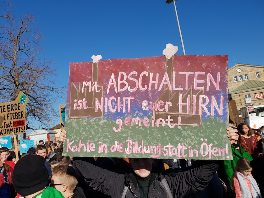 "Plakat Demonstration ""Nicht mit uns!"" Bamberg am 16.02.2019"
