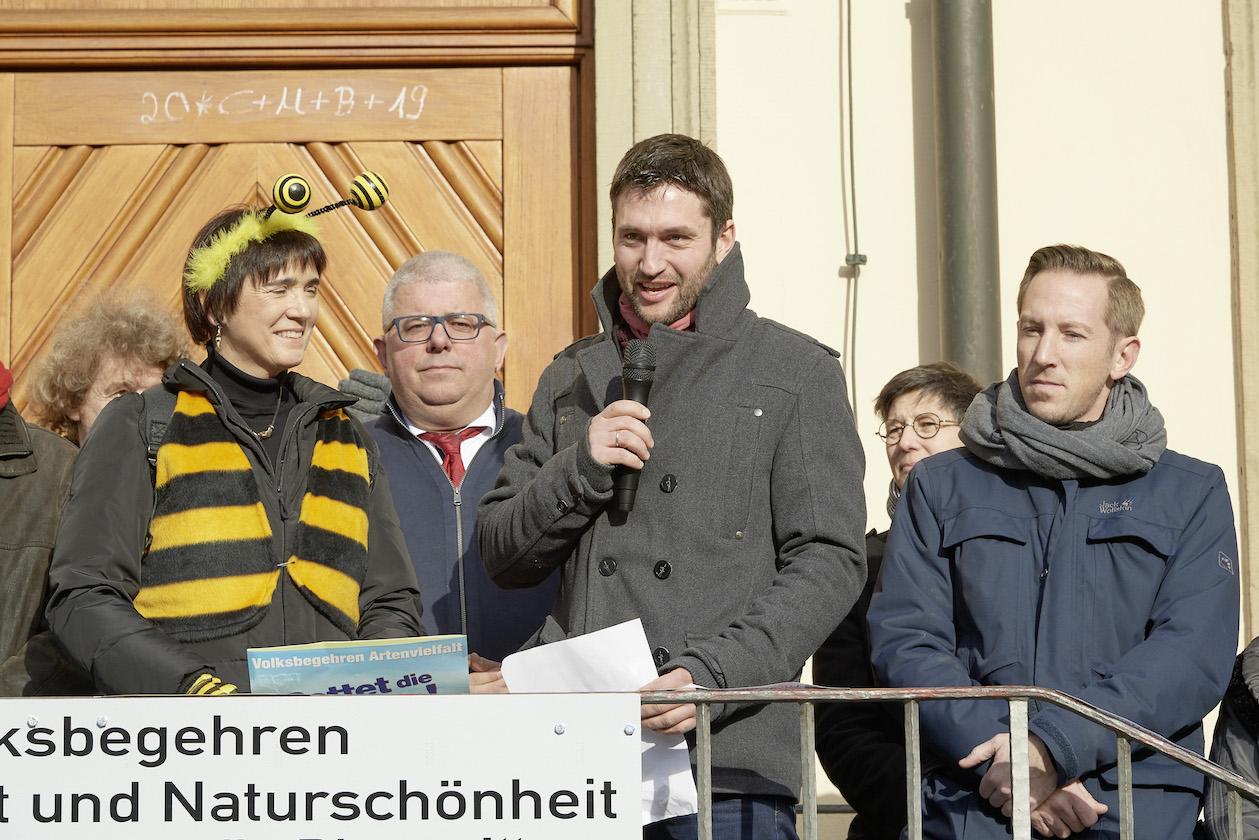 Lucas Büchner, Statementgeber (Intro 2) zur Auftaktveranstaltung des Volksbegehrens