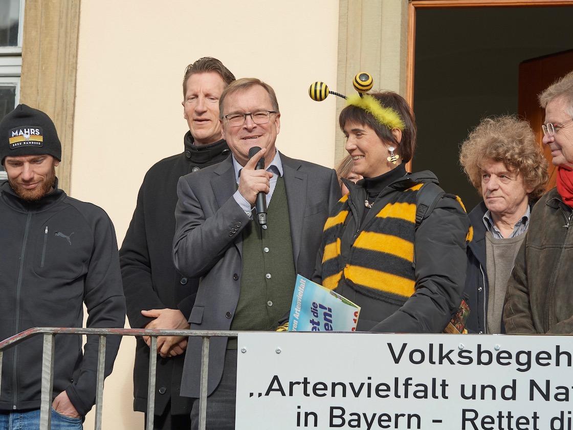 OB Andreas Starke, Statementgeber zur Auftaktveranstaltung des Volksbegehrens