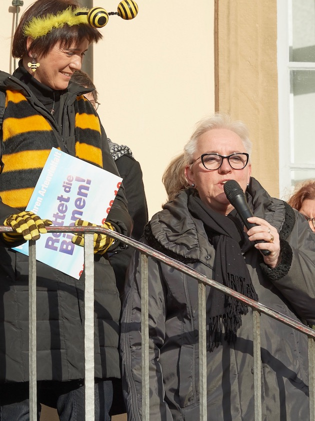 Anne Rudel, Statementgeberin zur Auftaktveranstaltung des Volksbegehrens