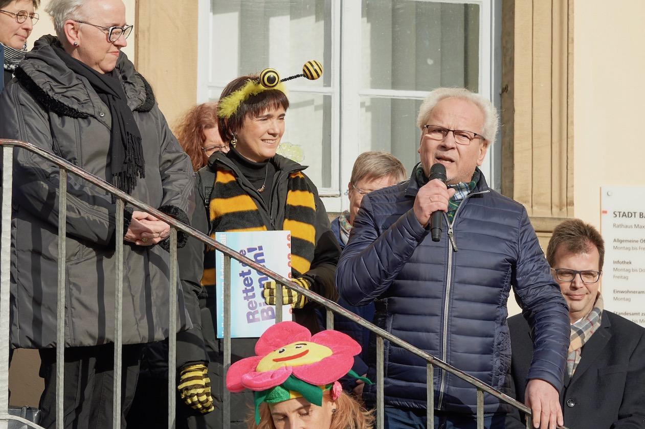 Hans-Martin Lechner, Statementgeber zur Auftaktveranstaltung des Volksbegehrens
