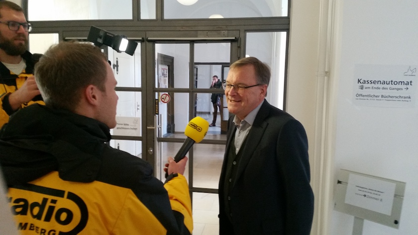 OB Andreas Starke im Interview mit Radio Bamberg