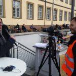 3. Bgm. Wolfgang Metzner gibt sein Statement an Kameramann Arno Schimmelpfennig ab