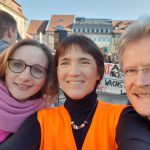 "MdB Lisa Badum, Ilona Munique, Reinhold Burger zur Demonstration ""Nicht mit uns!"" Bamberg am 16.02.2019"