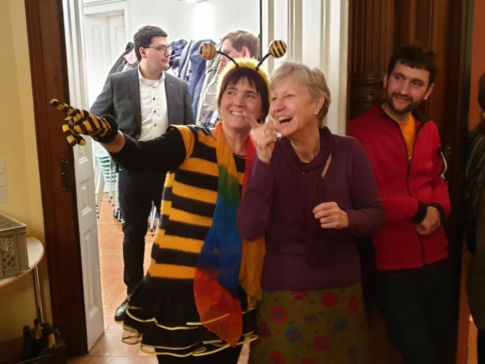 Gäste zur Siegesfeier Volksbegehren Artenvielfalt (in Bamberg)