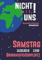 """""""Nicht-mit-uns!""""-Demo-Plakat"""
