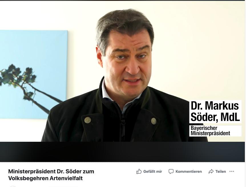 Videoaufruf Ministerpräsident Dr. Söder zum runden Tisch