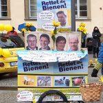 """Unser Mottowagen """"Söders runder Tisch, oder: Die Bienen sind ls!"""" Faschingsumzug mit Bienen-leben-in-Bamberg.de"""