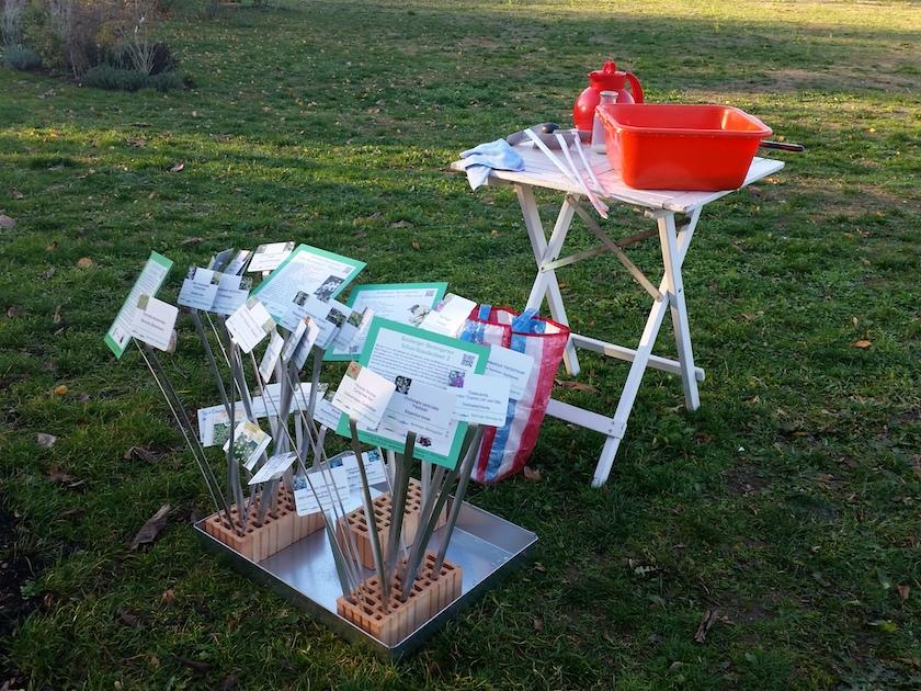 Pflanzenschilder, reinigen für die kommende Saison