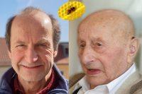 Alfred Pöhlmann mit seinem Vater, Bienenpate in memoriam Hans Pöhlmann