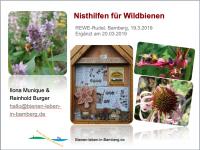 """Vorsatzblatt zur Powrepoint-Präsentation """"Wildbienenhotel"""""""