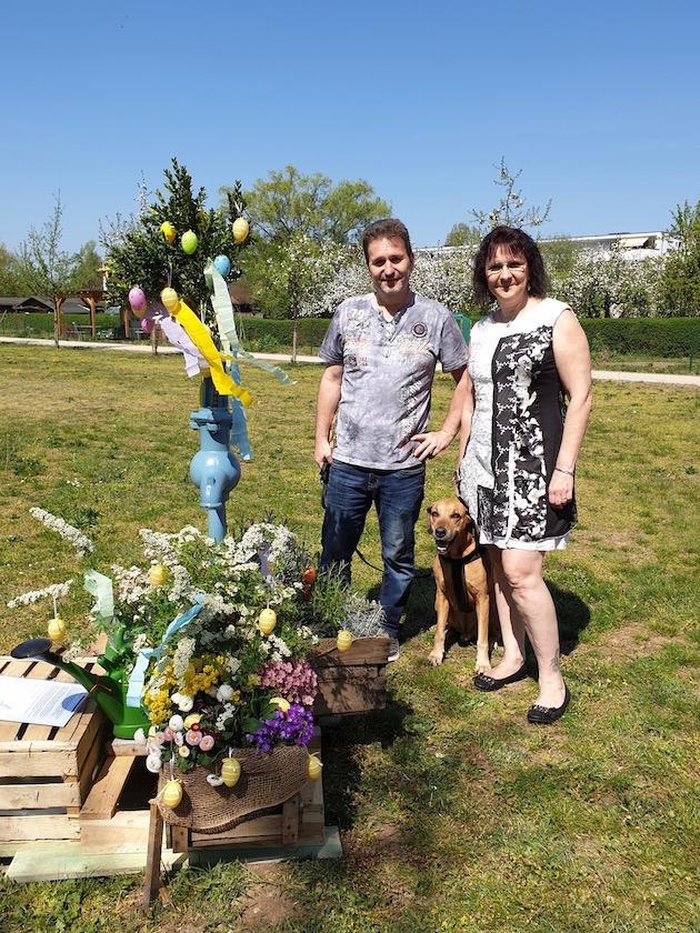 Bernhard und Heike, Gäste zur Saisoneröffnung der Bienen-InfoWabe