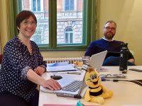 Referentin Ilona und Teilnehmende am BLIB-Imkerkurs für Anfänger