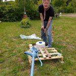 Aufbau Schwengelpumpe Bamberger Bienengarten