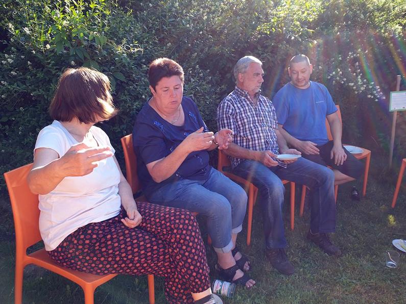 Gäste zum Pumpbrunnenfestla