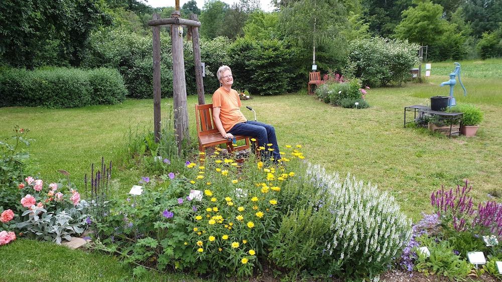 Reinhold im Bamberger Bienengarten