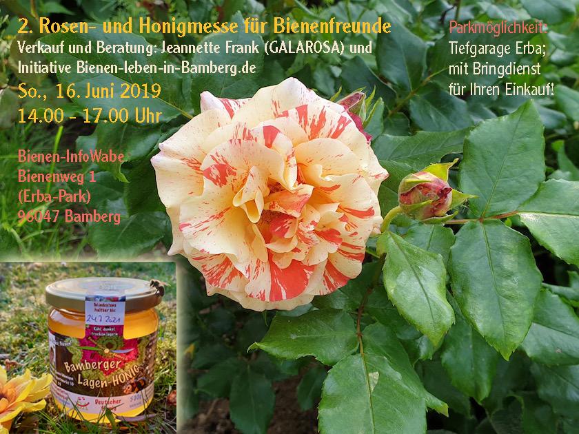 Einladung 2. Rosen- und Honigmesse Bamberg