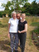 Lis und Eva Bischof mit Werner