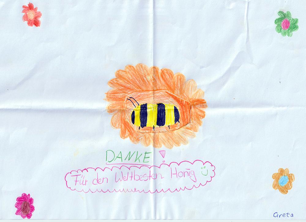 Bienenzeichnung von Greta