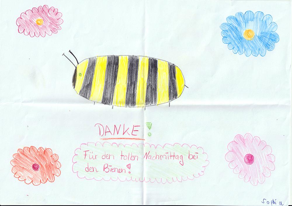 Bienenzeichnung von Sophia