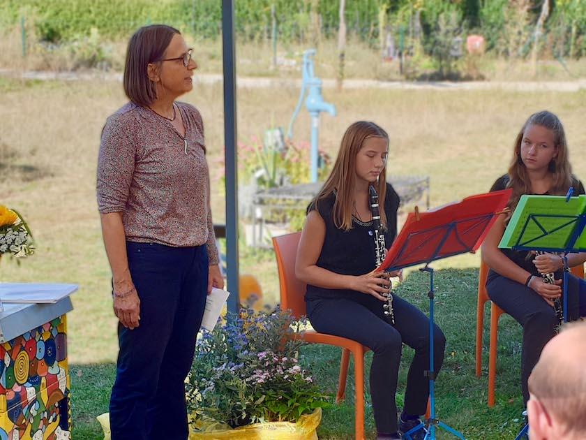 Klarinettenensemble, moderiert von Monika Badt