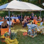 Festgäste zur Saison-Abschlussfeier der Bienen-InfoWabe