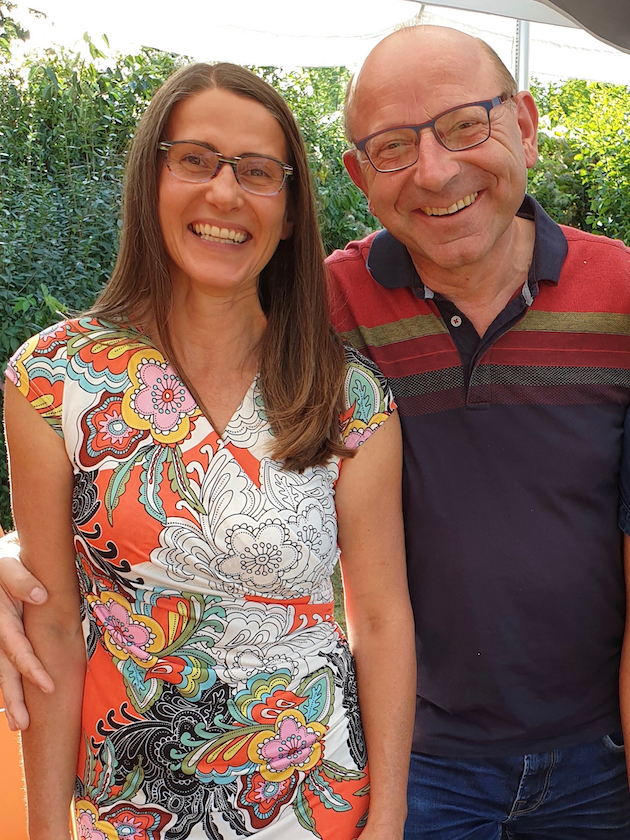 Anerkennungspreisträgerin Jeannette Frank mit Jurymitglied Franz Spindler