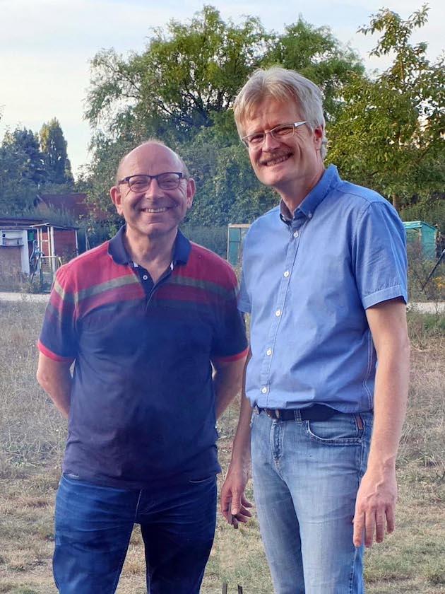 Jurymitglied Franz Spindler mit Reinhold Burger