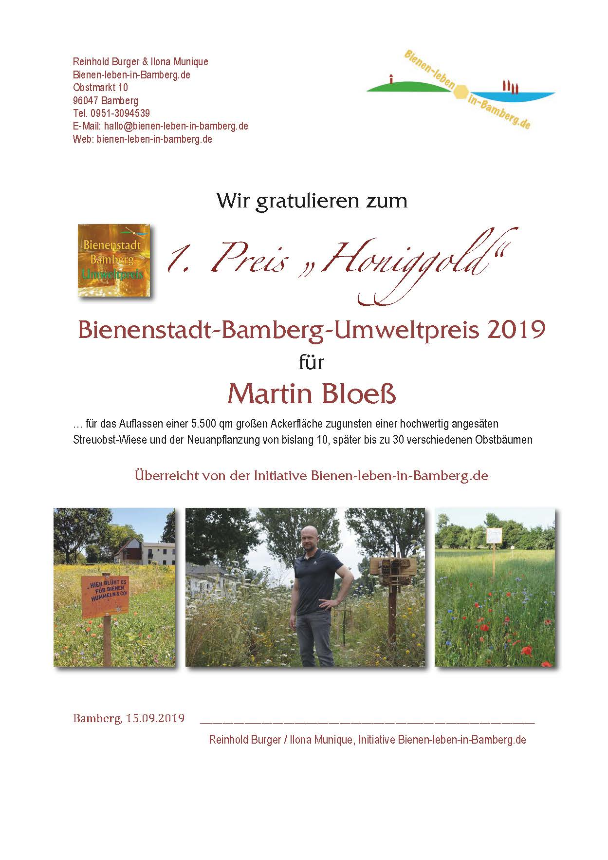 1. Preis BBU 2019 Martin Bloeß