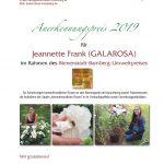 Anerkennungspreis, BBU 2019 an Jeannette Frank