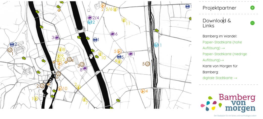 Change Karte nachhaltiges Bamberg