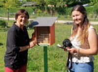 Journalistin Antonia Wild (FT) zum Interview im Bamberger Bienengarten