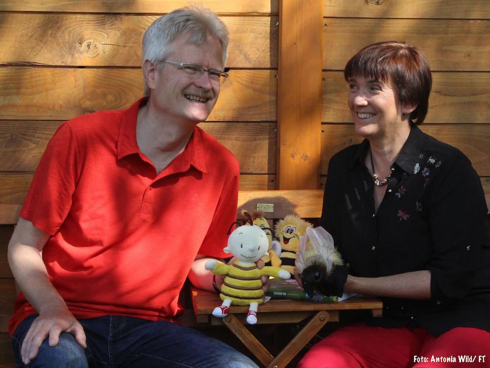 Reinhold und Ilona im Bamberger Bienengarten