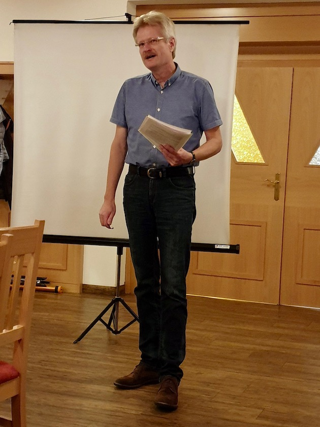 Reinhold Burger, Vortragender Herbstversammlung IBZV e. V. 2019
