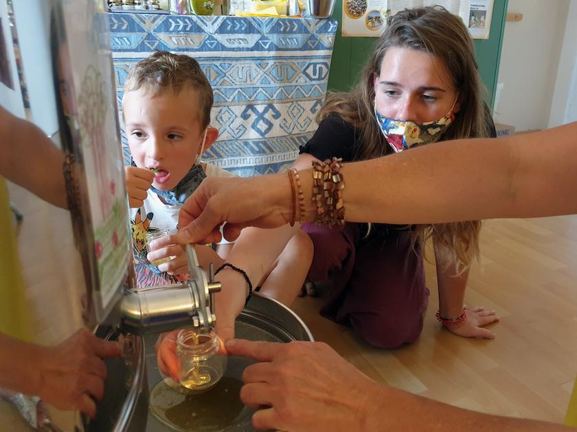 Honig verarbeiten mit der Bamberger Schulbiene