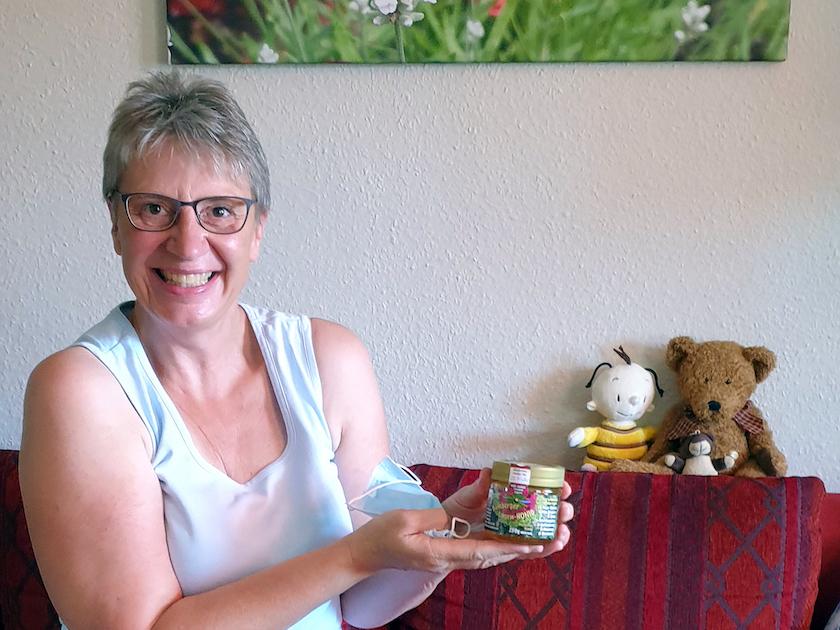 Marga, unser letzter Gast der diesjährigen Honigerntesaison