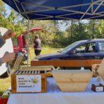 Stand am Honigmarkt und Herbstmarkt des Kreislehrgartens Oberhaid