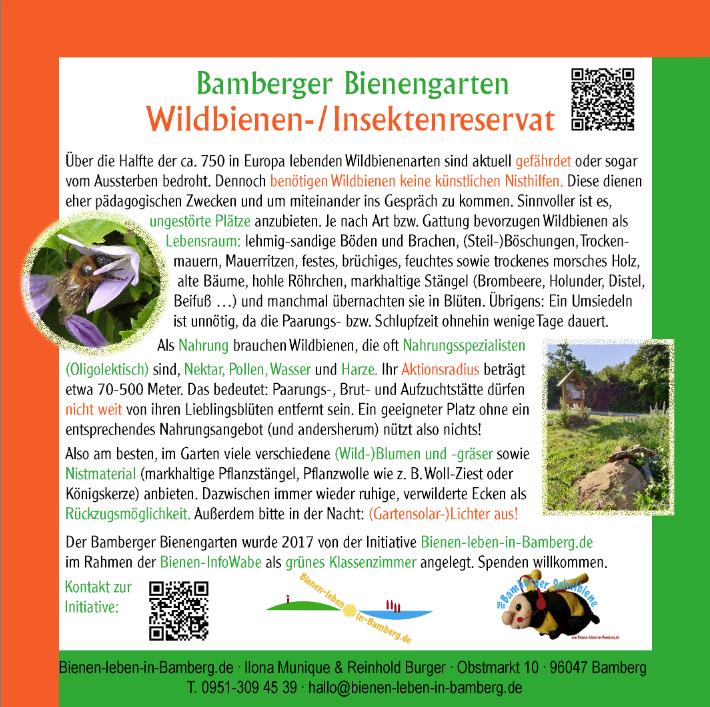Infotafel-Wildbienen-Insekte-Reservat an der Blühwiese