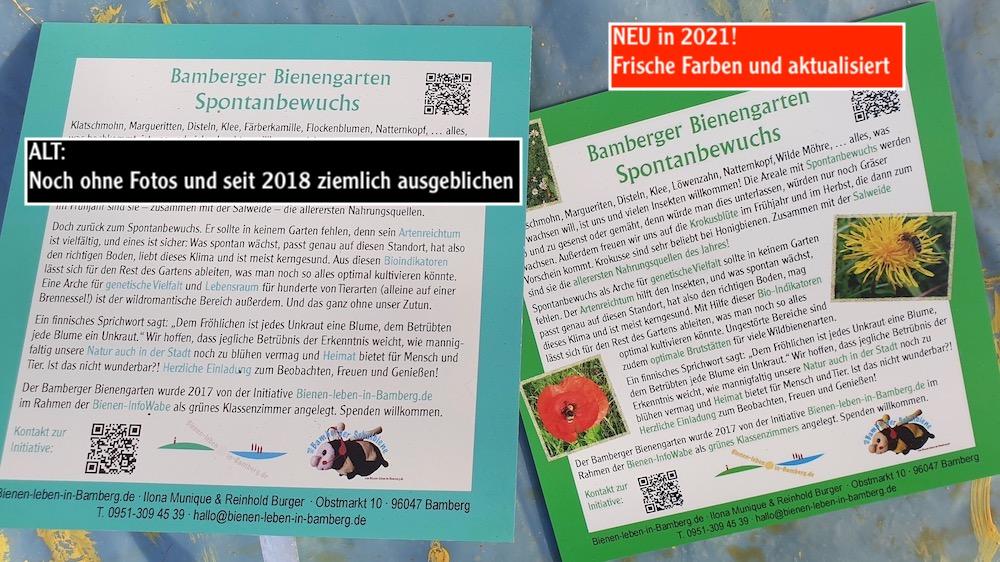Aktualisierte Infotafeln für den Bamberger Bienengarten
