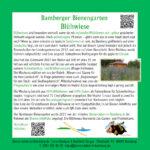 Tafel zur Blühwiese im Bamberger Bienengarten