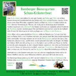 Infotafel zum Schau-Kräuterbeet im Bamberger Bienengarten, Bienenweg 1