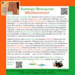 Infotafel zum Wildbienenhotel im Bamberger Bienengarten