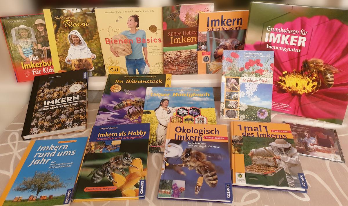 Anfängerliteratur zur Imkerei der Imker-Bibliothek / Bienen-leben-in-Bamberg.de